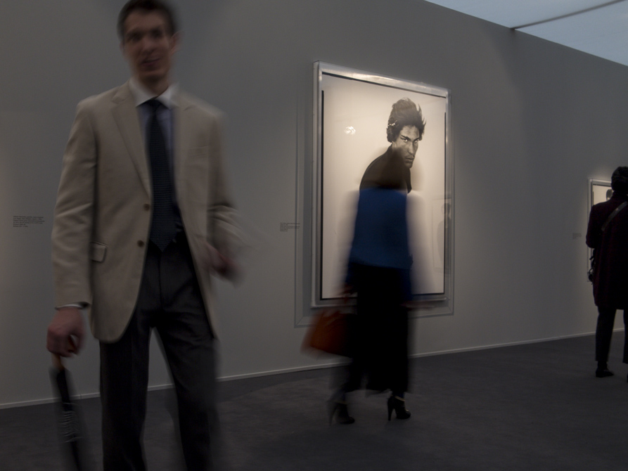 pic by Simon Butcher of people at Frieze Masters